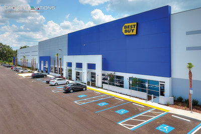 Aerial photo of Best Buy distribution center in Lakeland, Florida.