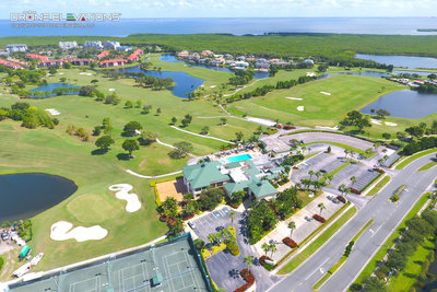 Aerial drone golf course photo in Tampa, Florida.